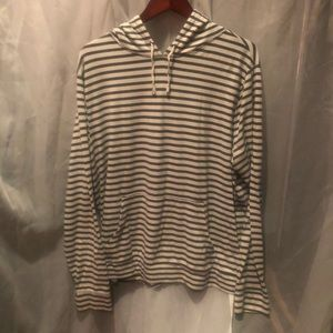 Long sleeve striped hooded shirt xxl